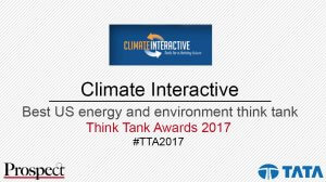 Climate Interactive Named Top US Energy and Environment Think Tank