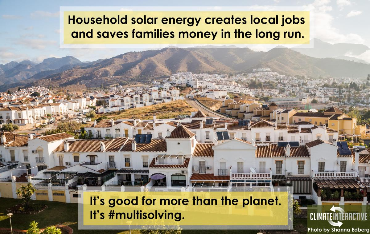 Household Solar Energy is #Multisolving
